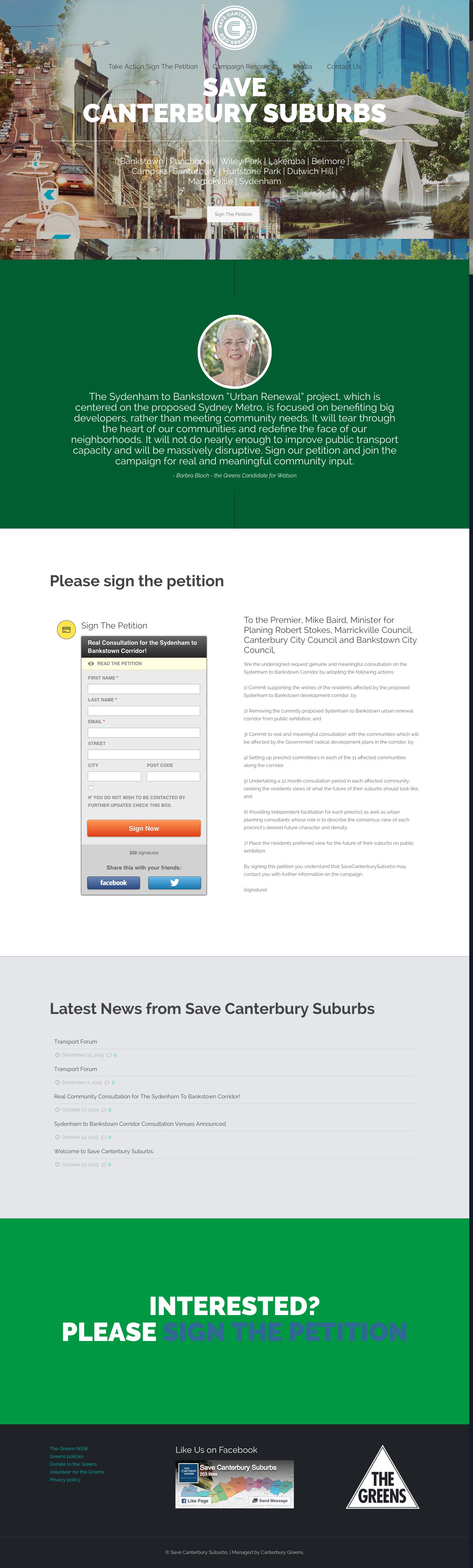Save Canterbury Suburbs