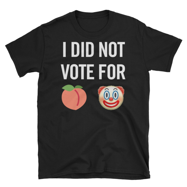 I DID NOT VOTE FOR TRUMP
